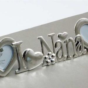 i love nana frame with 2 heart shaped openings - Nana Frame